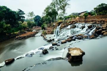 Vui quên lối về ở thác Đá Hàn Đồng Nai